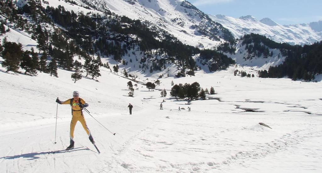 Esquí de fondo - Campo (Huesca) - Pirineo Aragonés